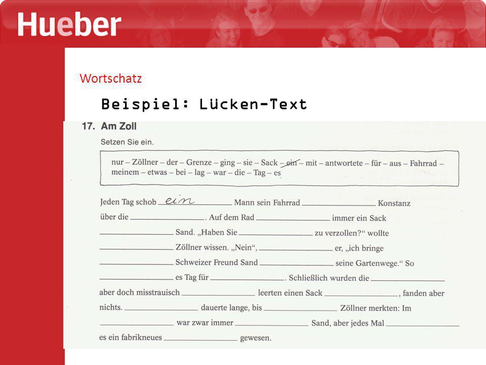 Beispiel: Lücken-Text