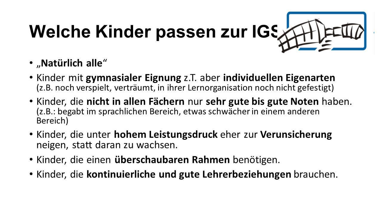 Welche Kinder passen zur IGS