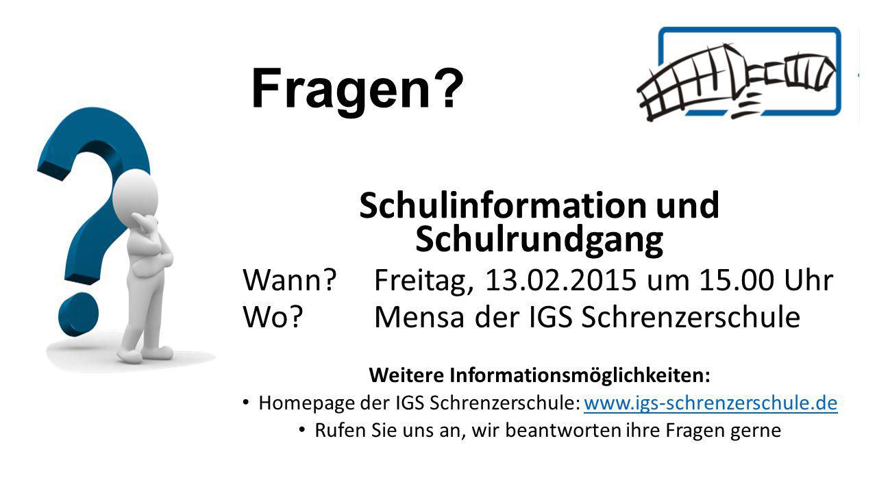 Weitere Informationsmöglichkeiten: