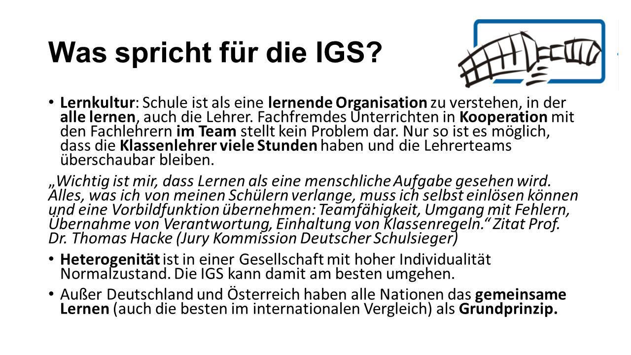 Was spricht für die IGS