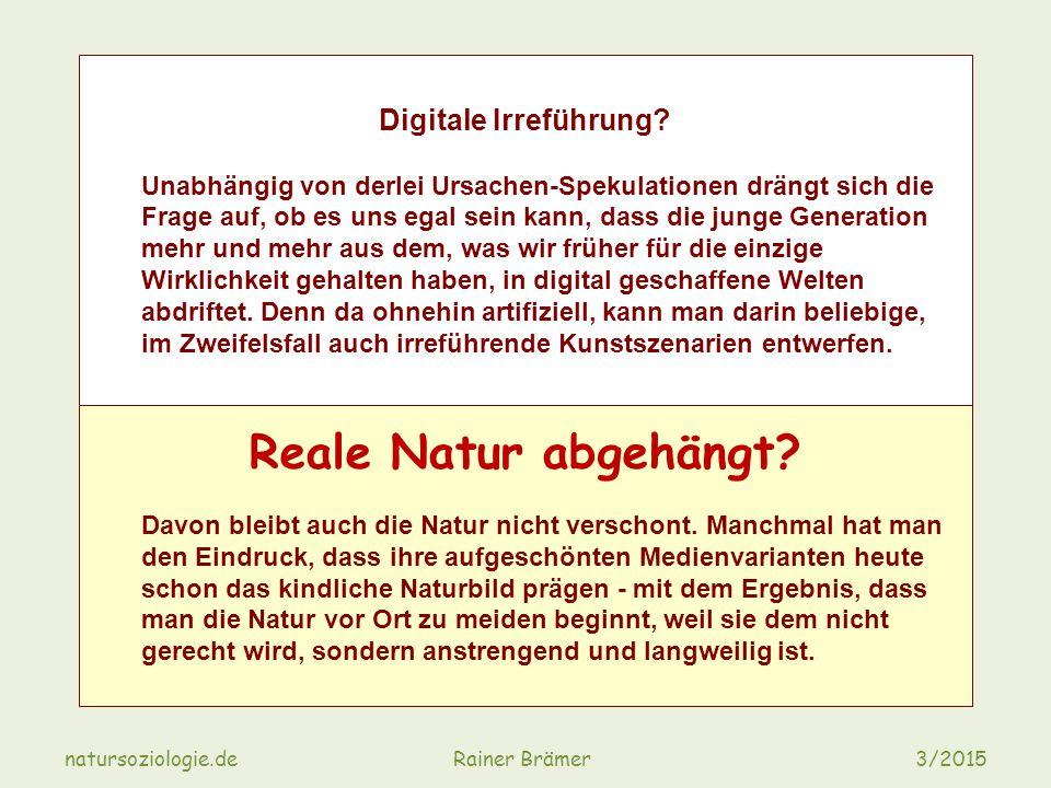 natursoziologie.de Rainer Brämer 3/2015