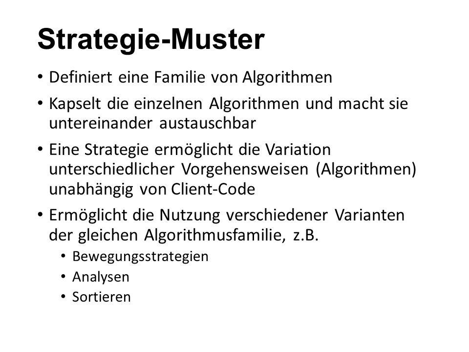 Strategie-Muster Definiert eine Familie von Algorithmen