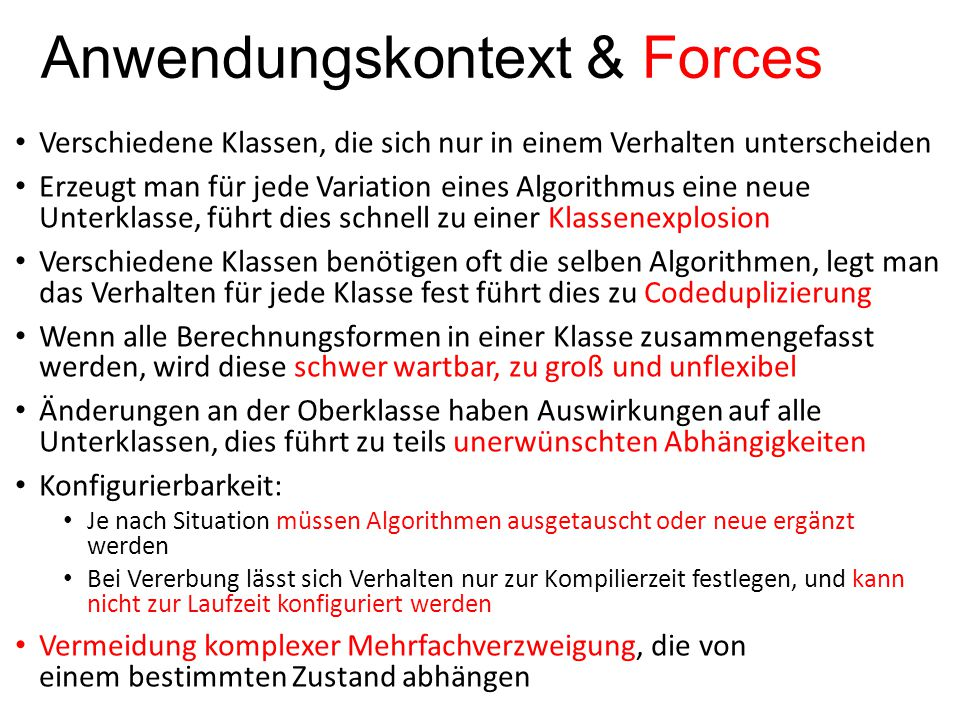 Anwendungskontext & Forces