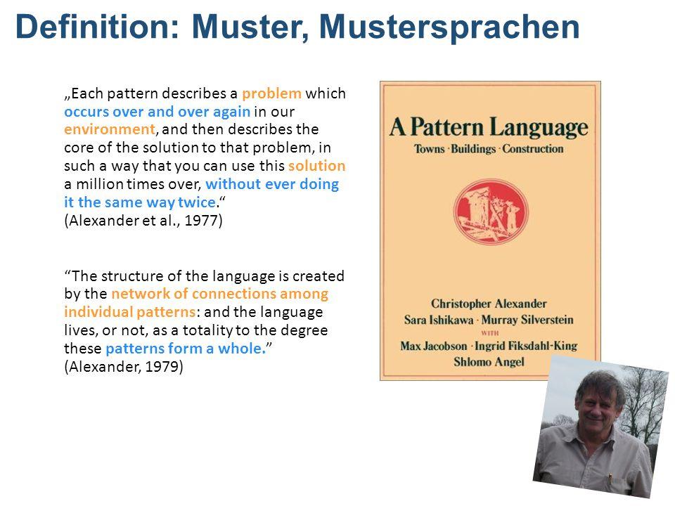Definition: Muster, Mustersprachen