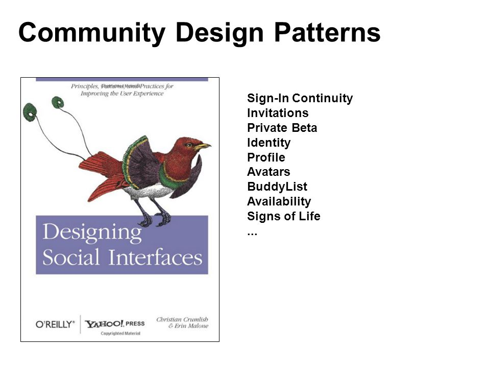 Community Design Patterns