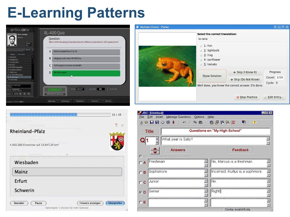 E-Learning Patterns
