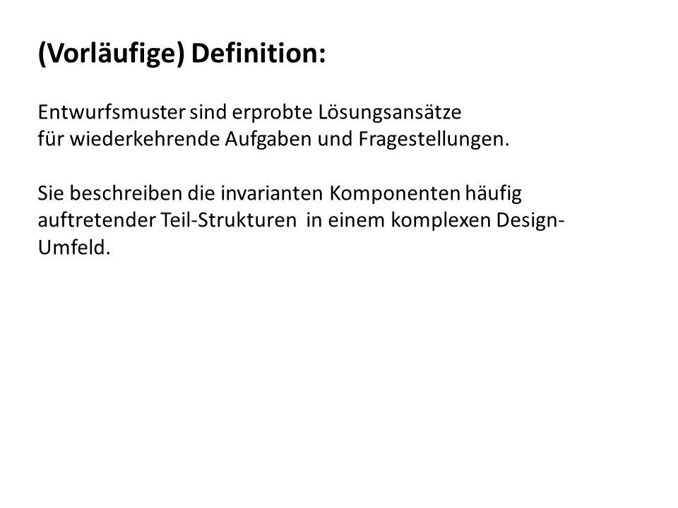 (Vorläufige) Definition: