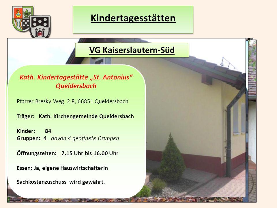 Kindertagesstätten VG Kaiserslautern-Süd