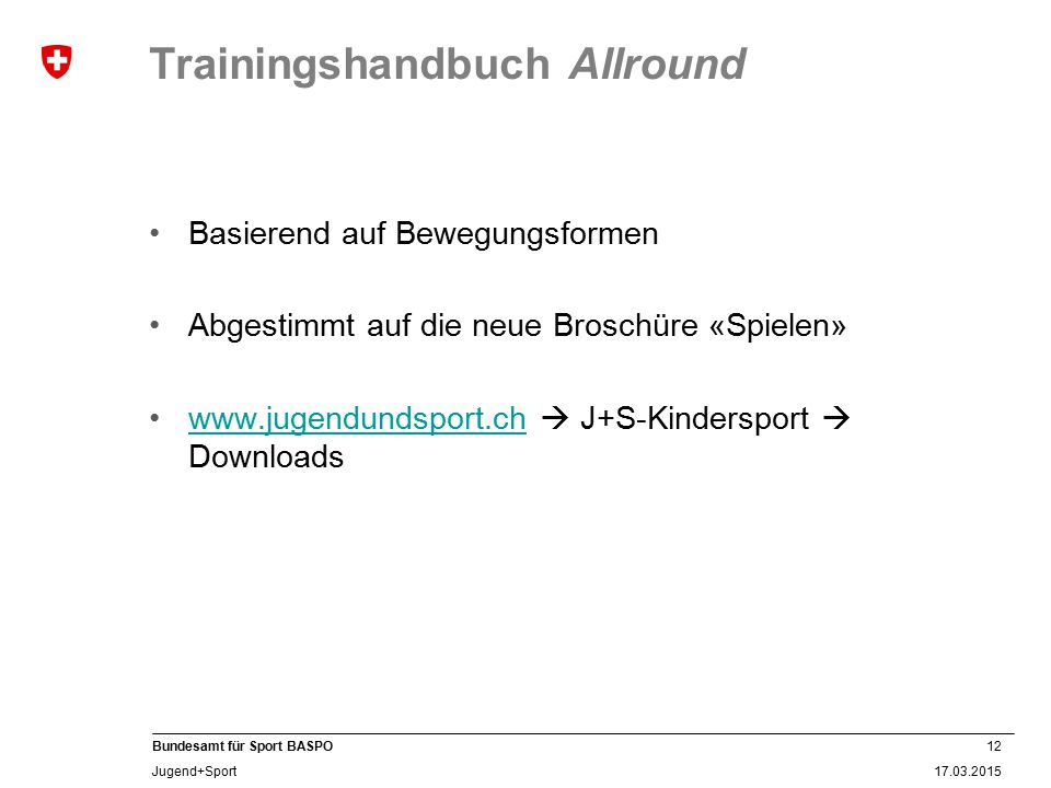 Trainingshandbuch Allround