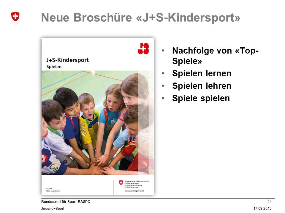Neue Broschüre «J+S-Kindersport»