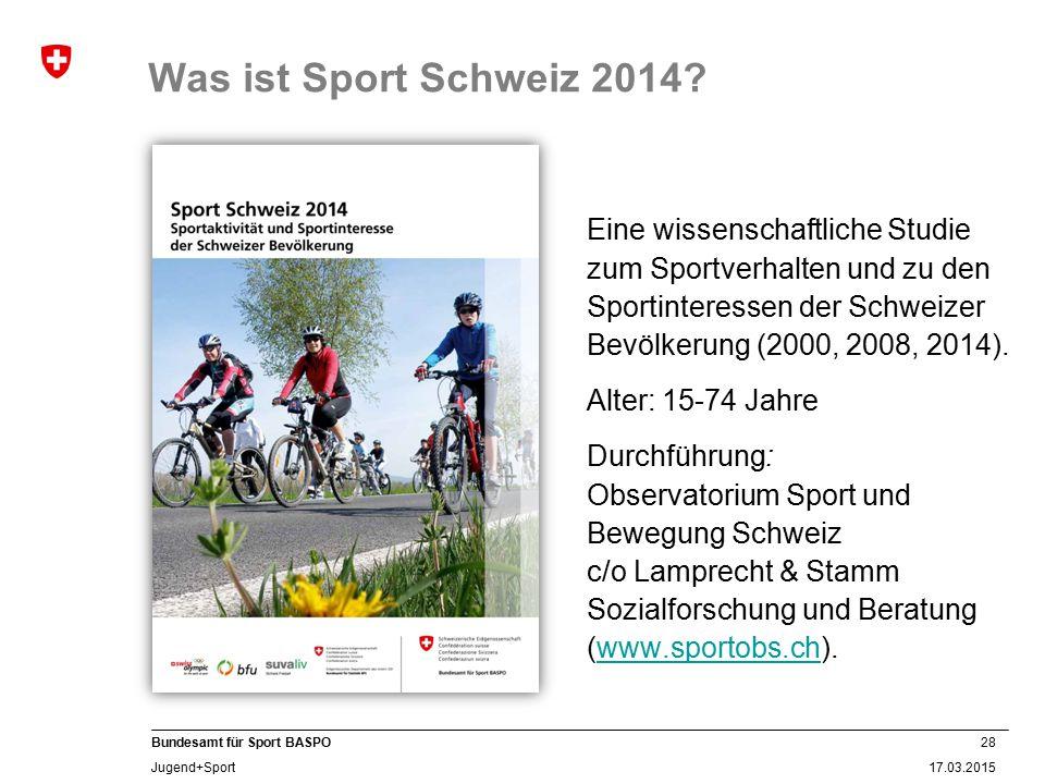 Was ist Sport Schweiz 2014 Alter: 15-74 Jahre