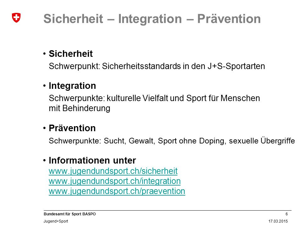 Sicherheit – Integration – Prävention