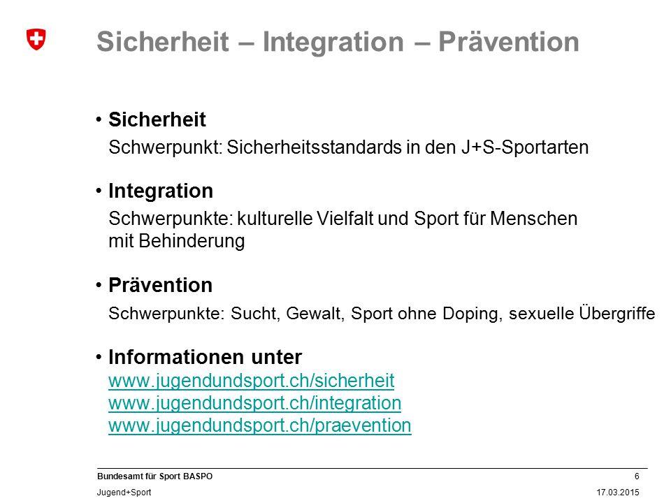 Sicherheit – Integration – Prävention