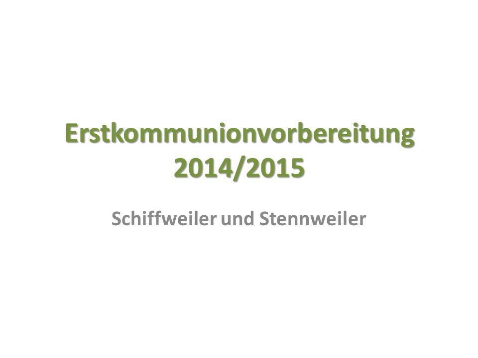 Erstkommunionvorbereitung 2014/2015