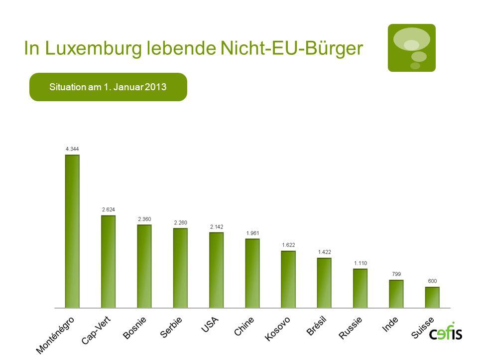 In Luxemburg lebende Nicht-EU-Bürger