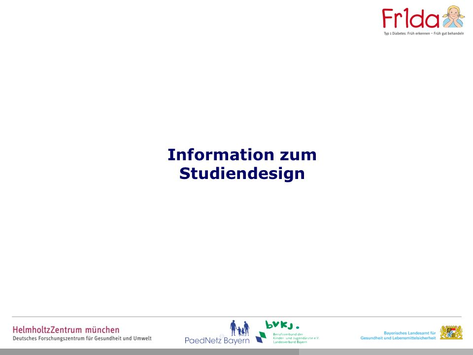 Information zum Studiendesign