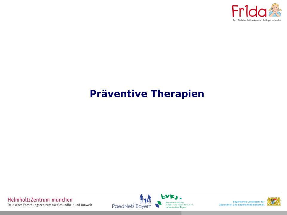 Präventive Therapien