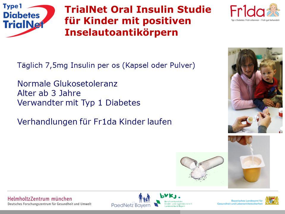TrialNet Oral Insulin Studie für Kinder mit positiven Inselautoantikörpern