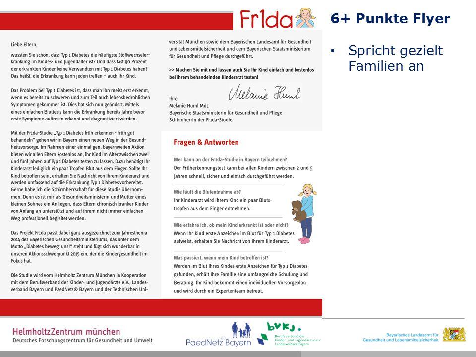 6+ Punkte Flyer Spricht gezielt Familien an