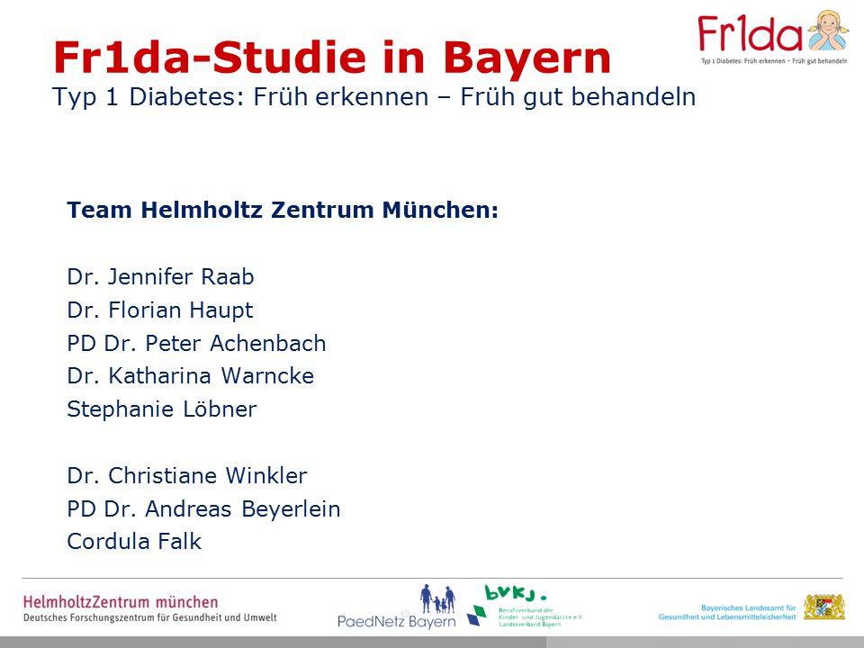 Fr1da-Studie in Bayern Typ 1 Diabetes: Früh erkennen – Früh gut behandeln
