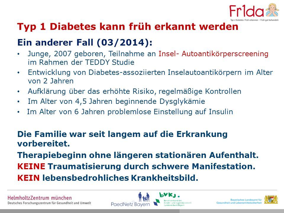 Typ 1 Diabetes kann früh erkannt werden