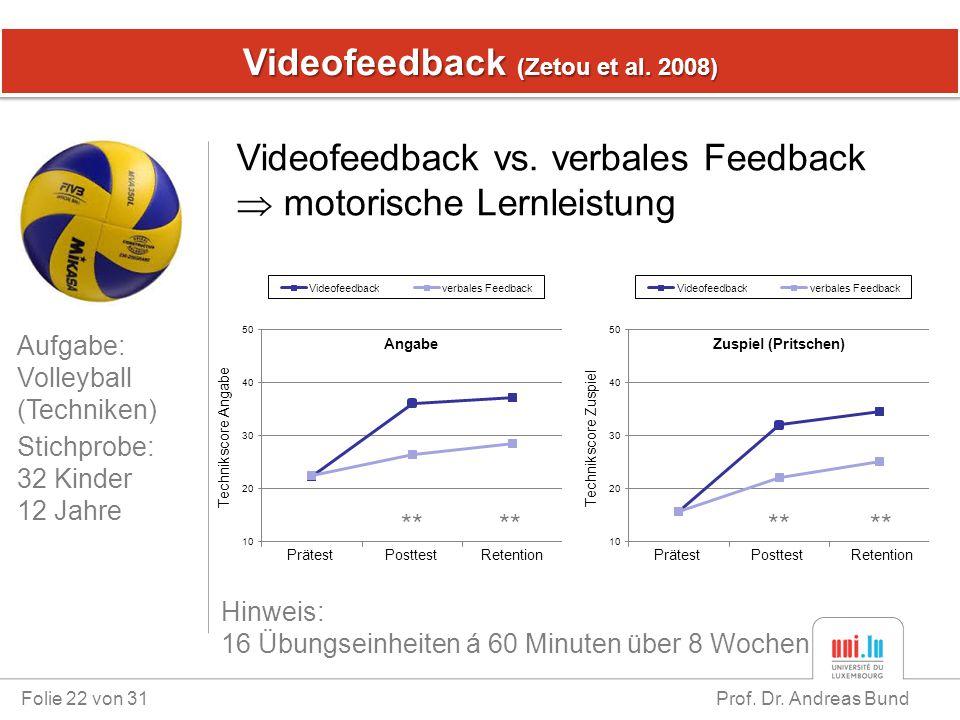 Videofeedback (Zetou et al. 2008)