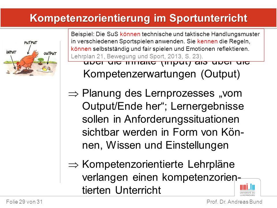 Kompetenzorientierung im Sportunterricht