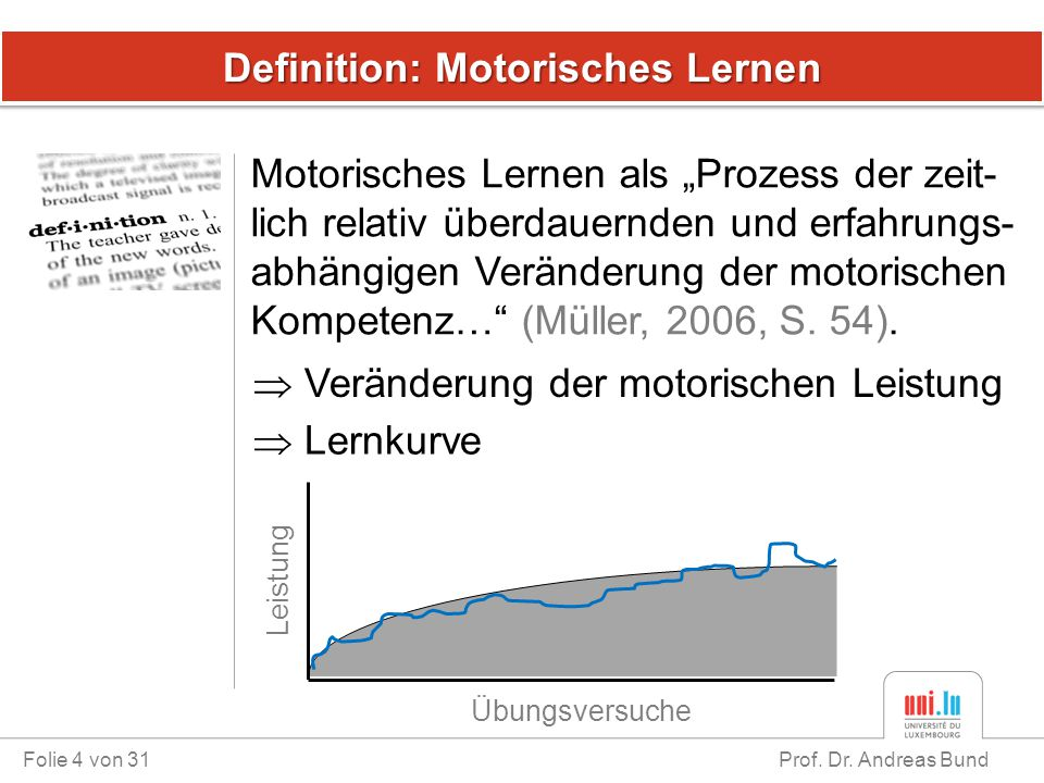 Definition: Motorisches Lernen