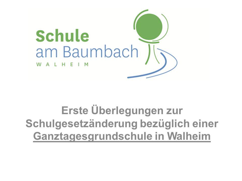 Erste Überlegungen zur Schulgesetzänderung bezüglich einer Ganztagesgrundschule in Walheim