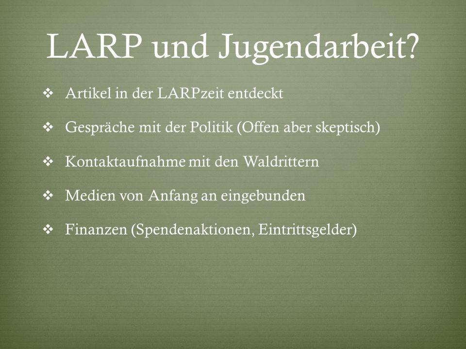 LARP und Jugendarbeit Artikel in der LARPzeit entdeckt