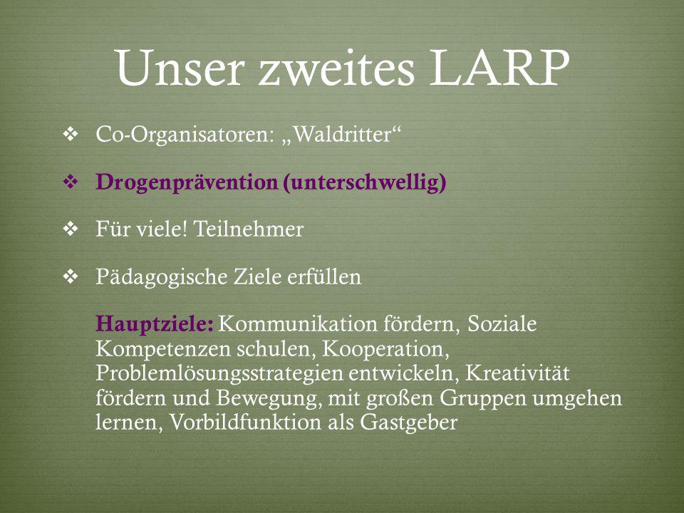 """Unser zweites LARP Co-Organisatoren: """"Waldritter"""
