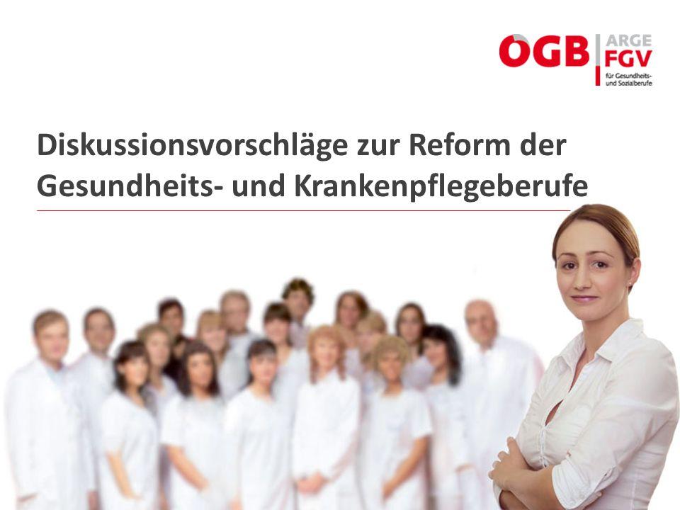 Diskussionsvorschläge zur Reform der Gesundheits- und Krankenpflegeberufe