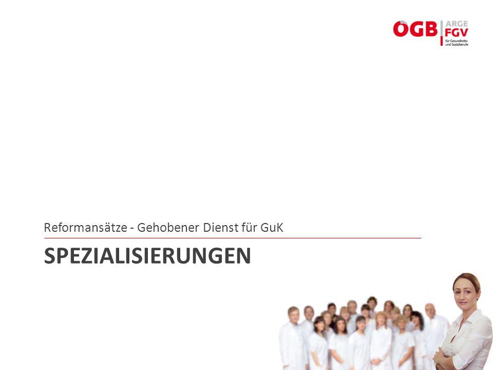 Reformansätze - Gehobener Dienst für GuK