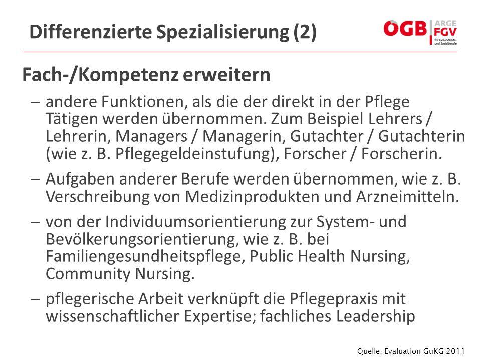 Differenzierte Spezialisierung (2)