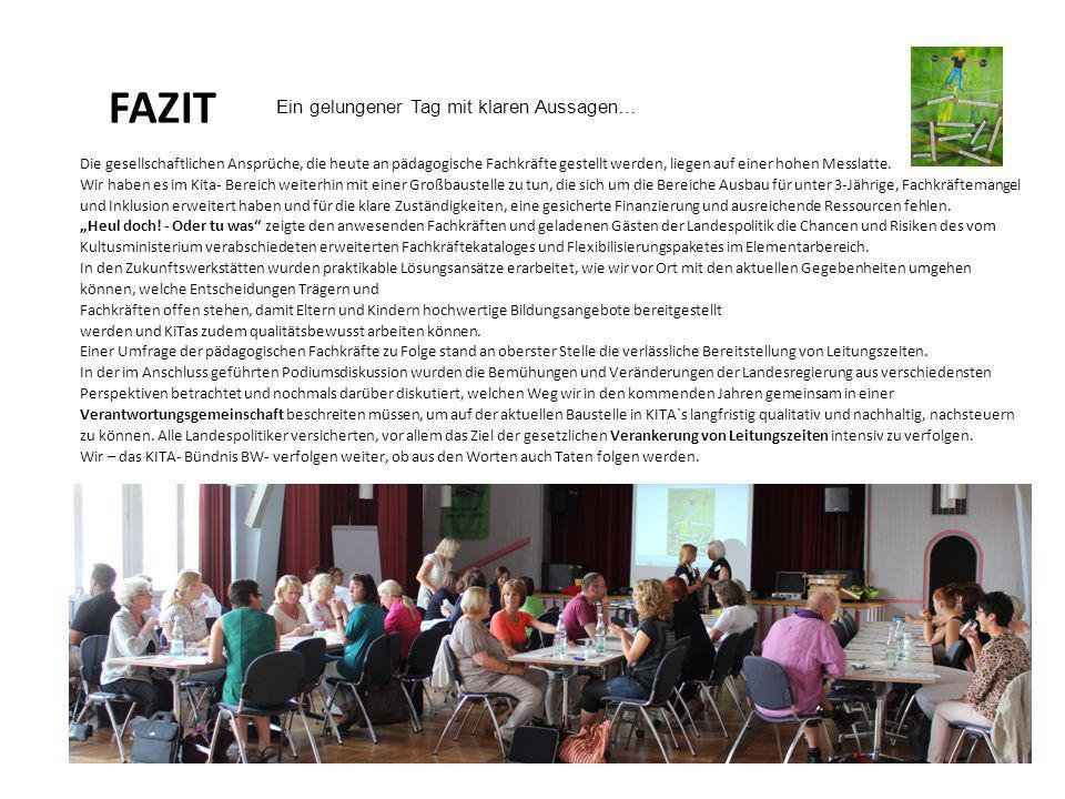 Kita Bündnis Baden Württemberg Ein gelungener Tag mit klaren Aussagen…