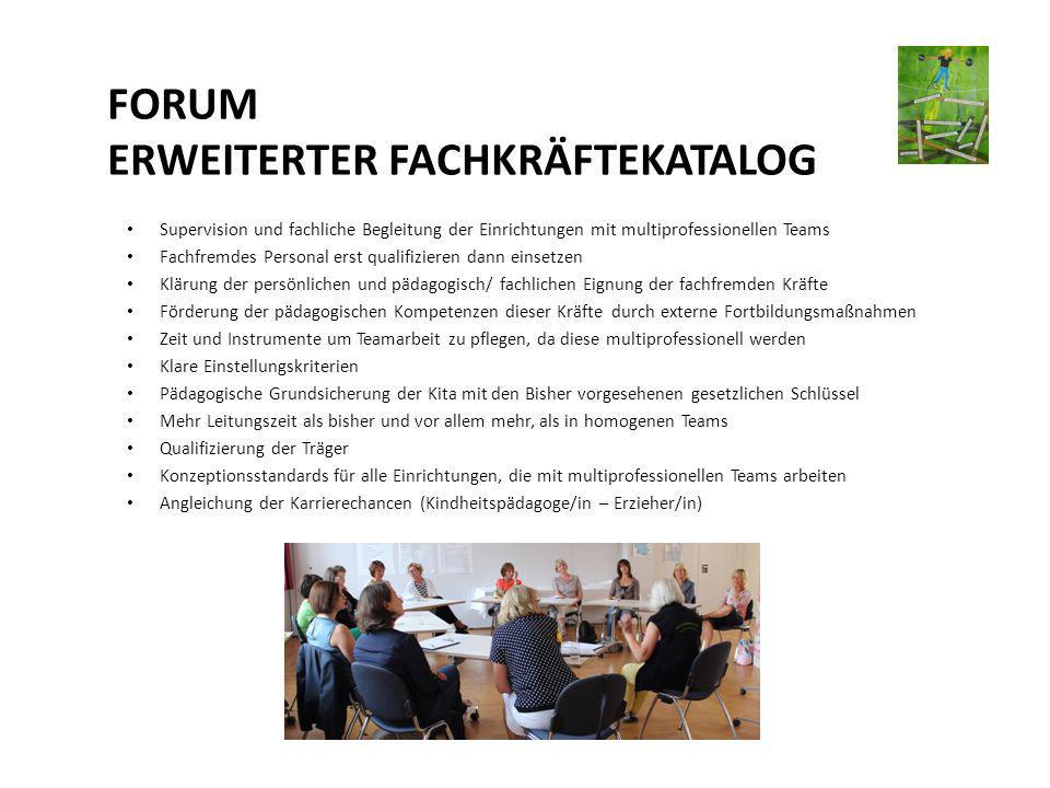 FORUM ERWEITERTER FACHKRÄFTEKATALOG
