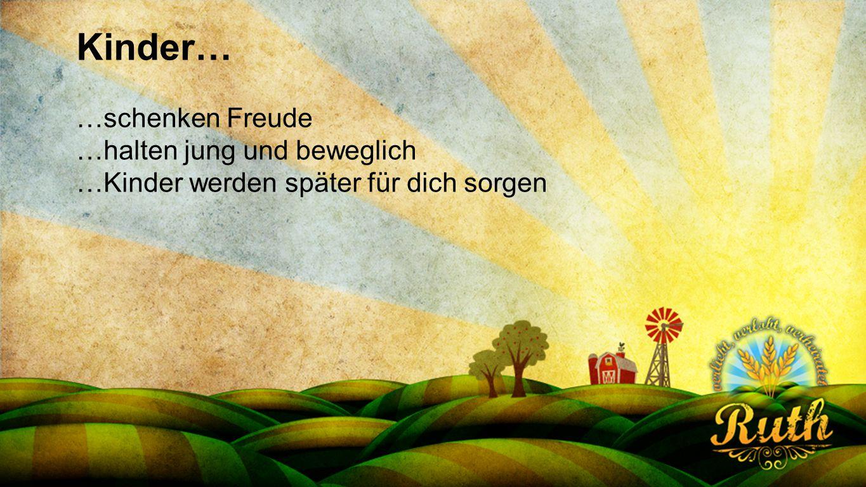 Kinder… Seriendesign deutsch …schenken Freude