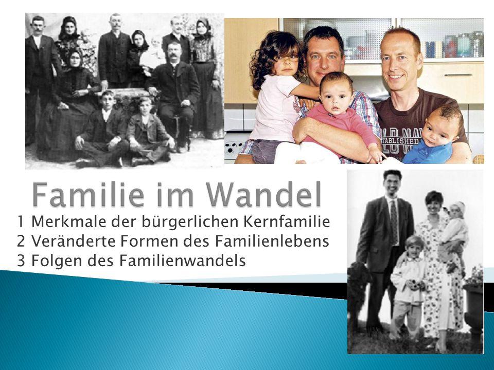Familie im Wandel 1 Merkmale der bürgerlichen Kernfamilie