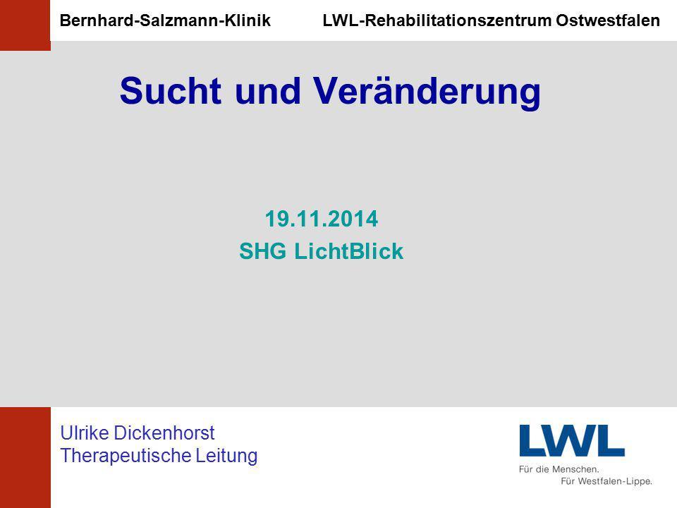 Sucht und Veränderung 19.11.2014 SHG LichtBlick