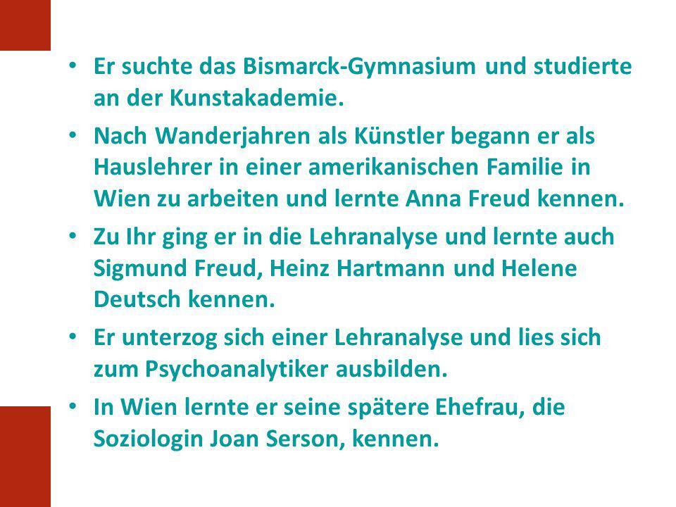 Er suchte das Bismarck-Gymnasium und studierte an der Kunstakademie.