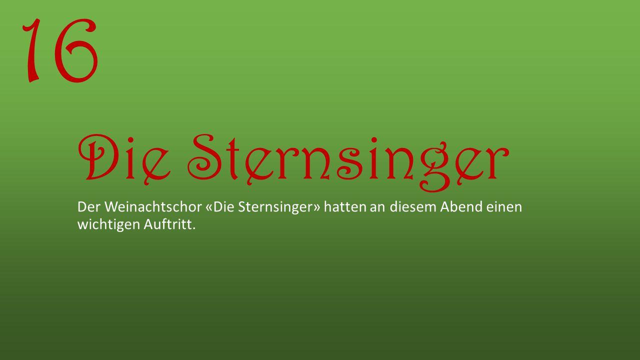 16 Die Sternsinger.