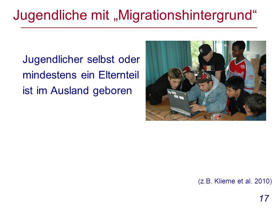 """Jugendliche mit """"Migrationshintergrund"""