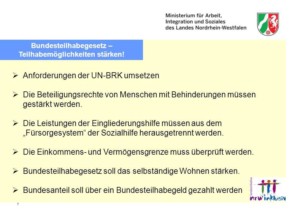 Bundesteilhabegesetz – Teilhabemöglichkeiten stärken!