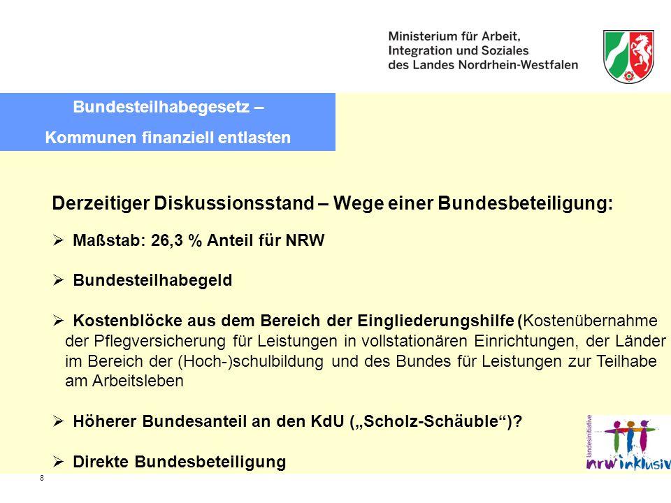 Bundesteilhabegesetz – Kommunen finanziell entlasten