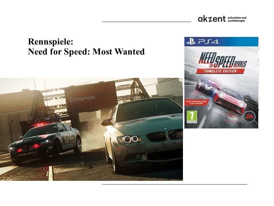 Rennspiele: Need for Speed: Most Wanted