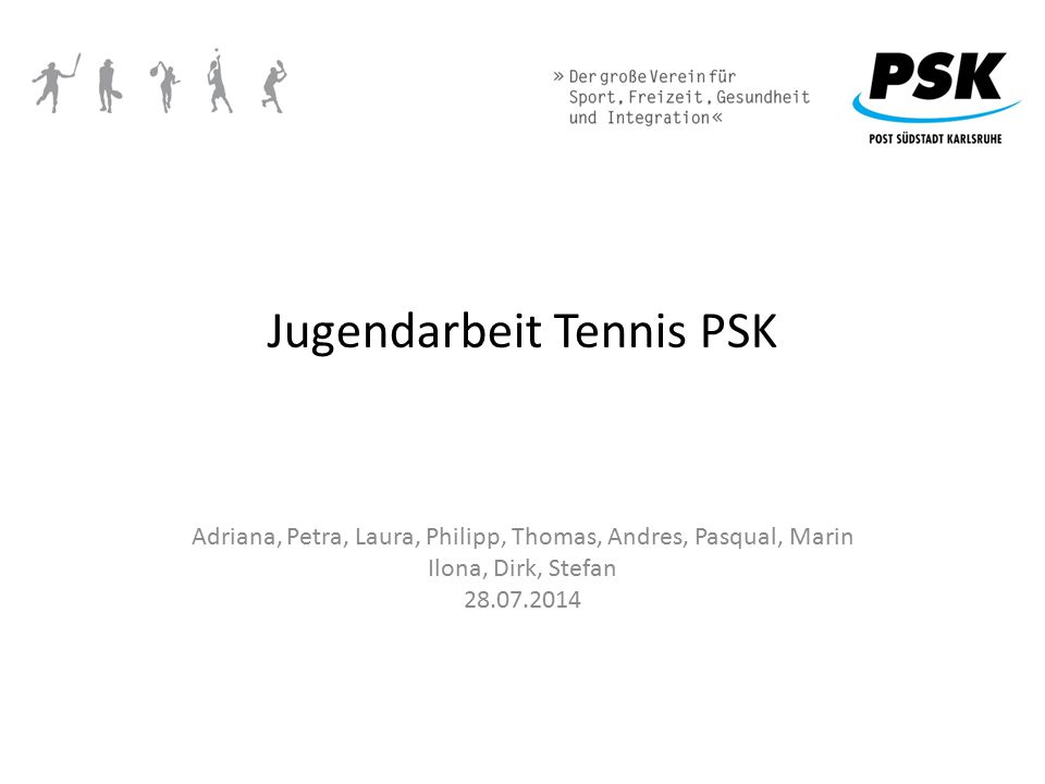 Jugendarbeit Tennis PSK