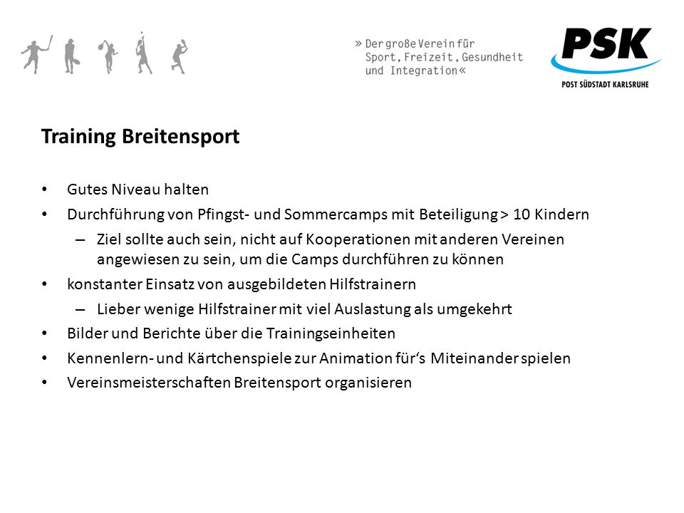 Training Breitensport