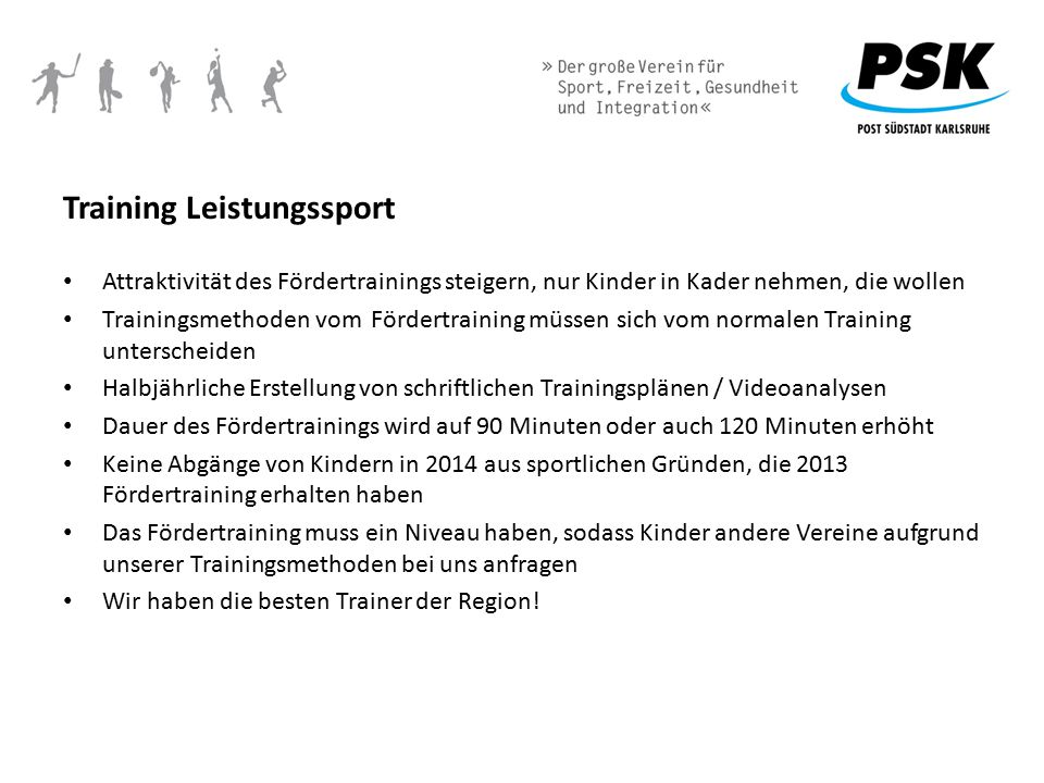 Training Leistungssport