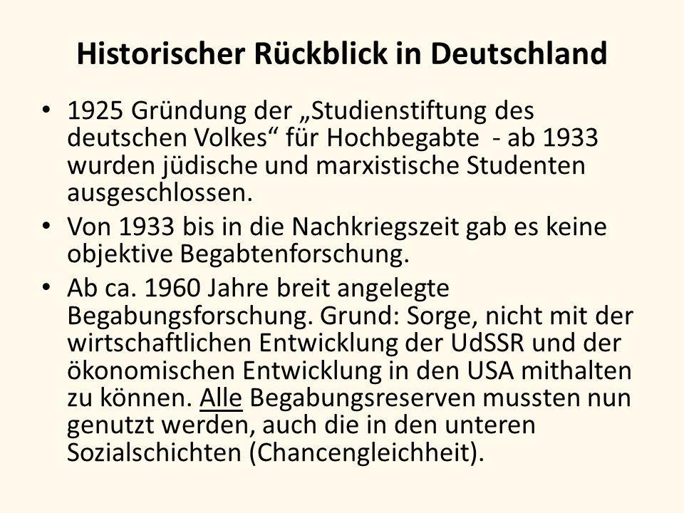 Historischer Rückblick in Deutschland