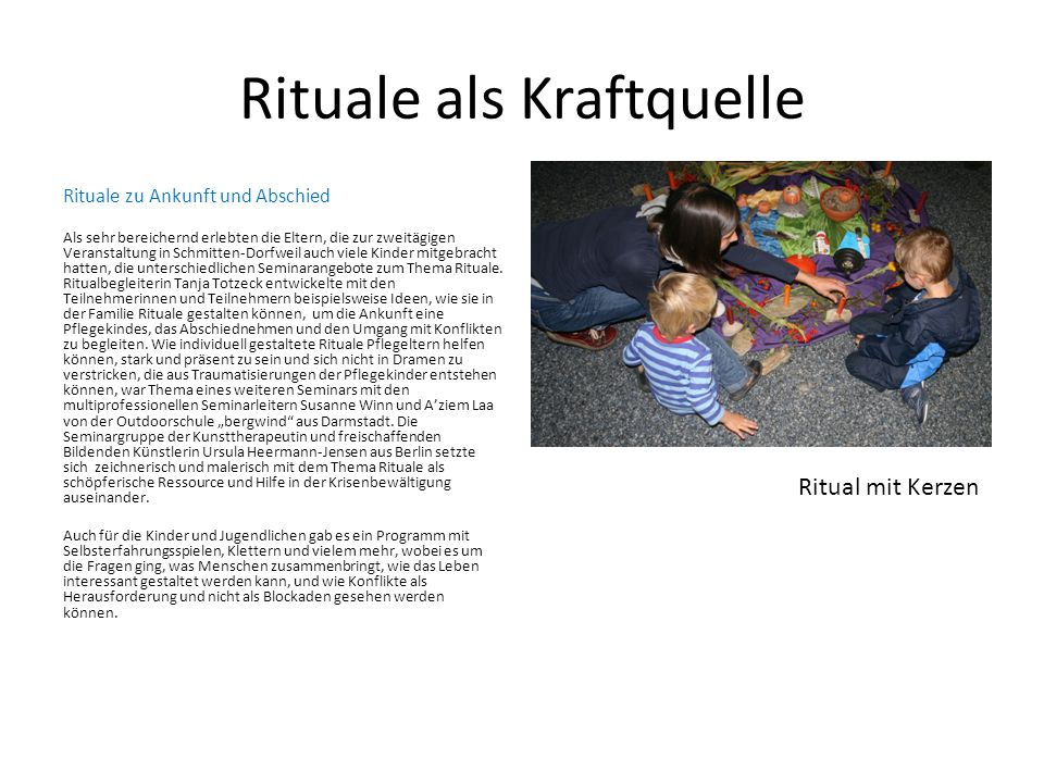Rituale als Kraftquelle